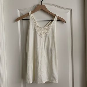 Children's Place off white tank top - Size 16 NWT
